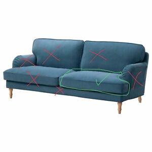 IKEA STOCKSUND COVER SLIPCOVER 3 Seat Sofa LJUNGEN Blue Seat Cover Only