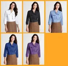 Cotton Blend Career Plus Size Tops & Blouses for Women