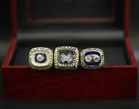 3 Ring Set NFL Miami Dolphins Championship Ring Set with wooden  Display Box