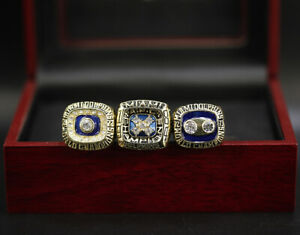 3 Ring Set Miami Dolphins Ring Dolphins Championship Ring Set with Display Box