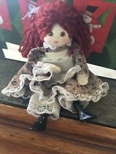 Handmade Ooak Cloth & Bisque Doll painted Face Pretty 6�