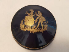VINTAGE, LIMOGES Cobalt Blue Lady Gentleman Ciondolo Box