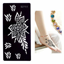 Henna Stencils reusable Lace Sun Flower Hands Art Stencils  Hands Arms Legs