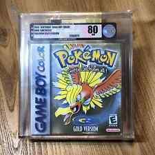 Pokemon Gold Version Sealed New Rare Gameboy Color Game Boy VGA Graded 80 NM