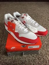 hot sale online 3c698 82b7e New Nike Air Max 1 Anniversary OG Red 908375-103 Size 13