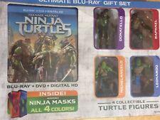 Teenage Mutant Ninja Turtles (Blu-ray DVD 2014 w/UV) Ultimate Gift Set BRAND NEW