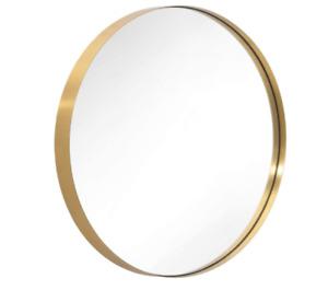Wandspiegel, RUND SPIEGEL mit Metallrahmen, Runder spiegel - Gold