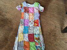 2 piece dress s/m boho style long with matching free form jacket