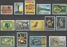 Timbres Flore Animaux Oiseaux Poissons Mnnéraux Ghana 41/53A ** lot 2493