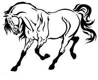 STENCILS CRAFTS TEMPLATES SCRAPBOOKING HORSE STENCIL - 21 - A4 MYLAR