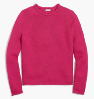 J CREW Womens Throwback Rollneck Pullover Sweater, Hthr Vintage Berry, S - ($70)
