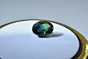 Australian Natural Faceted Sapphire -1.55 CT Parti Blue & Green Oval Gemstone