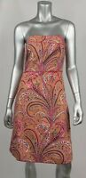 J.Crew Mini Dress 2 Multicolor Paisley Floral Strapless Lined 68809 New