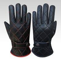 Hommes conduite gants classique vache napa cuir slim design noir marron 514