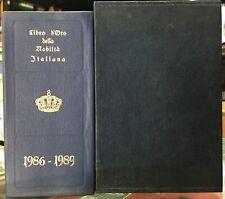 (Araldica) LIBRO D'ORO DELLA NOBILTÀ ITALIANA -EDIZIONE XIX -VOLUME XX 1986-1989