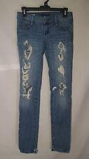 Decree junior's size 1 super skinny denim jeans holes holes