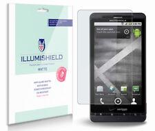 iLLumiShield Matte Screen Protector w Anti-Glare/Print 3x for Motorola DROID X