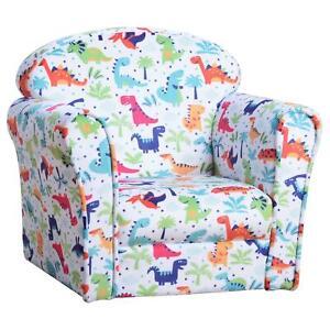 Dinosaur Themed Kids Armchair Childs Mini Sofa Chair Nursery School Furniture