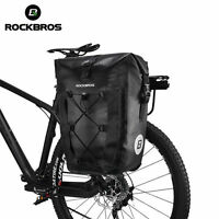 ROCKBROS Waterproof Pannier Bag Cycling Bicycle Travel  Rear Seat Carrier Black
