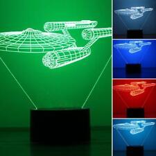 Star Trek LED Night Light 3D 7 Colors Changing USB Desk Table Lamp Birthday Gift