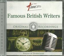 FAMOUS BRITISH WRITERS CD VOICES OF YESTERYEAR - ORIGINAL RECORDINGS
