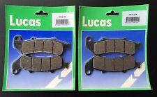 2x Bremsbeläge Lucas MCB 658 Honda CBR 1000 F, CBR1000, SC24, Bj. 93-00 Dual CBS