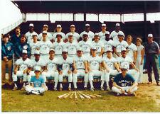 1984 TORONTO BLUE JAYS 8X10 TEAM PHOTO BARFIELD MOSEBY BASEBALL CANADA