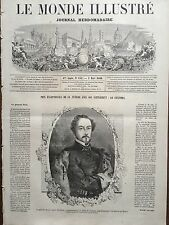 LE MONDE ILLUSTRE 1860 N 151 LE GENERAL don JUAN  PRIM, comte de REUSS