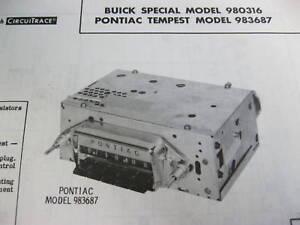 1962 BUICK SPECIAL & PONTIAC TEMPEST RADIO PHOTOFACT