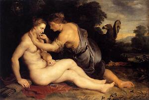 Dream-art oil painting Peter Paul Rubens - Jupiter and Callisto & hawk in sunset