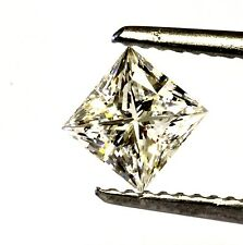 GIA loose certified .72ct VS1 J princess cut square diamond vintage estate