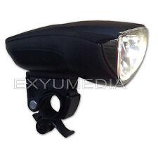StVZO 1 Watt LED Fahrrad Scheinwerfer Klassik Fahrradlampe, Fahrradlicht schwarz