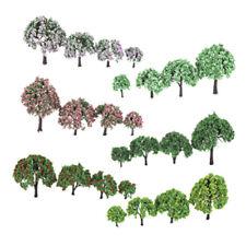 HO N Z OO Scale Fir Tree Model & Flower Trees Set for Railway Park Scenery
