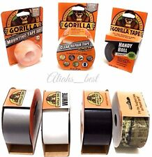 GORILLA GLUE TAPE Tough & Wide Clear Black Silver White Mounting Handy roll Tape