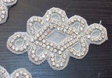 Mariée perles cristal strass broderie patch applique motif costume mariage