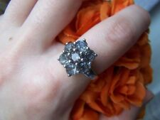 ABSOLUTELY STUNNING 925 SOLID STERLING SILVER RUTILE QUARTZ RING SIZE S US 9