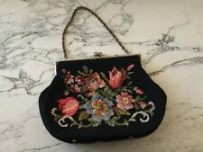 Vintage Floral Tapestry Bag Gold Chain Strap