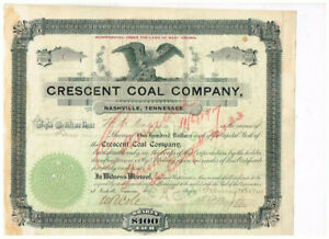 #1 ! Crescent Coal Company, West Virginia, 1900, scarce, tax stamps, VF