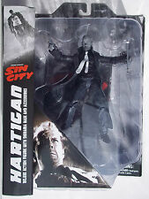 SIN CITY SELECT HARTIGAN DELUXE B&W ACTION FIGURE. W/ BASE. DIAMOND SELECT.