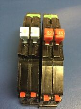 Lot of 2 - Zinsco Breakers 1 Each of 15 & 20 Amp Twin Breakers - Chipped Plastic