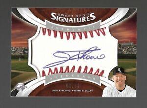 2006 Upper Deck Sweet Spot Signatures Jim Thome Ball Auto #9/15