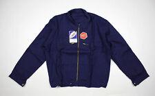 VTG 1960's LE LABOUREUR french blue cyclist chore jacket mechanic size M NOS