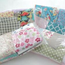MEGA BUNDLE FABRIC SCRAPS remnants COTTON / POLY COTTON GINGHAM DOT FLORAL plain