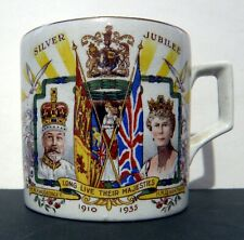 KING GEORGE V & QUEEN MARY 1935 SILVER JUBILEE MUG  C. 1935