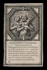 santino incisione 1600 SS.GIOVANNI E PAOLO MM.