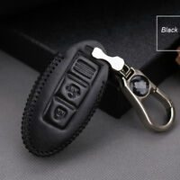 For Nissan  Sylphy 2 buttons smart remote key case holder cover fob Black thread