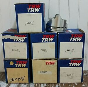 TRW Piston Set of 8 L2352F fits 1970 Chevrolet Chevy Pontiac USA Made NOS w/ Box
