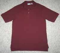 Evergreen Polo Shirt Men's Size Small Burgundy Red Cotton Man's Top Short Sleeve