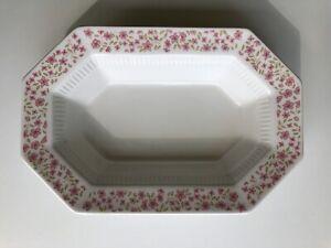 "Vintage Independence Ironstone Japan Pink Floral ""Mary Jane"" Serving Bowl Dish"