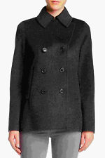 Vince Double-Face Wool Pea Coat Jacket, Size S